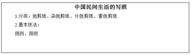 高中美术《中国民间生活的写照—剪纸艺术》教学设计